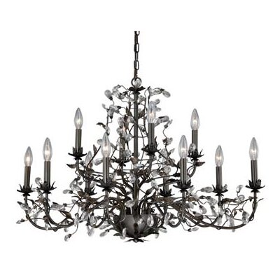 Trellis 12-Light Crystal Chandelier