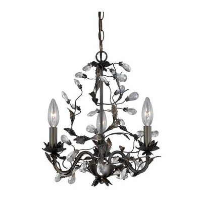 Trellis 3-Light Crystal Chandelier
