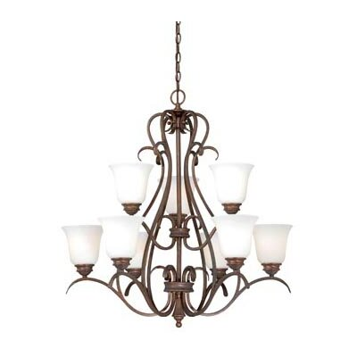 Elayne 9-Light Shaded Chandelier Finish: Weathered Patina