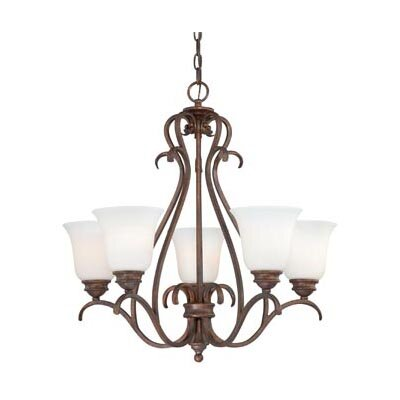 Elayne 5-Light Shaded Chandelier Finish: Weathered Patina