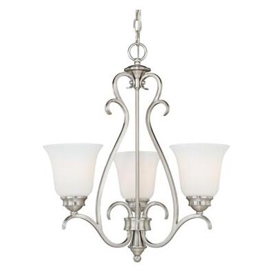 Elayne 3-Light Shaded Chandelier Finish: Satin Nickel