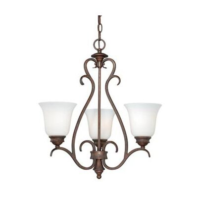 Elayne 3-Light Shaded Chandelier Finish: Weathered Patina
