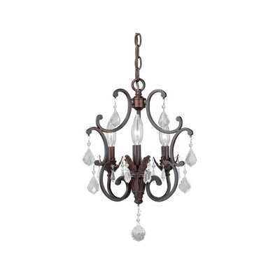 Perouges 3-Light Crystal Chandelier