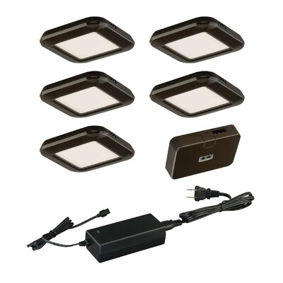 7 Piece Under Cabinet Puck Light Set Finish: Bronze