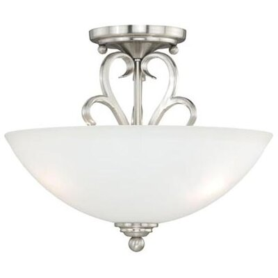 Hartford 2-Light Semi Flush Mount Finish: Satin Nickel