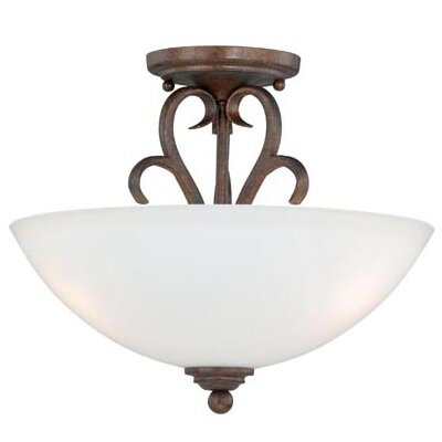 Elayne 2-Light Semi Flush Mount Finish: Weathered Patina