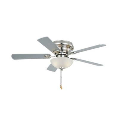 42 Expo 5-Blade Flushmount Ceiling Fan Finish: Satin Nickel with Maple Silver Blades