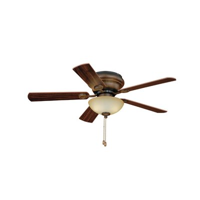 42 Expo 5-Blade Flushmount Ceiling Fan Finish: Aged Walnut with Walnut Distressed Pine Blades