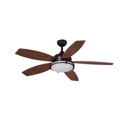 52 Tali 5-Blade LED Ceiling Fan Finish: Oil Burnished Bronze with Walnut Blades