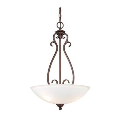 Hartford 3-Light Inverted Pendant Finish: Weathered Patina