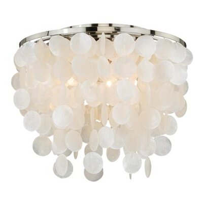 Elsa Capiz Shell Flush Mount