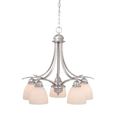 Bourbon 5-Light Shaded Chandelier Finish: Brushed Nickel