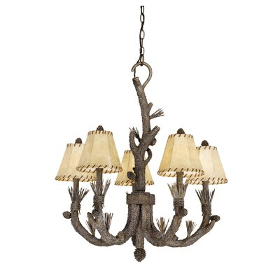 Aspen 5-Light Shaded Chandelier