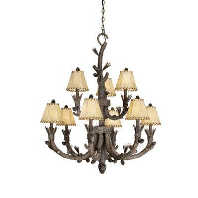 Polster 9-Light Shaded Chandelier