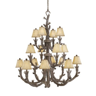Polster 16-Light Shaded Chandelier