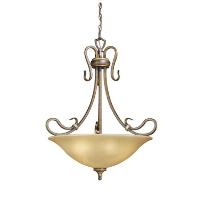 Berkeley 4-Light Inverted Pendant Finish: Aged Walnut