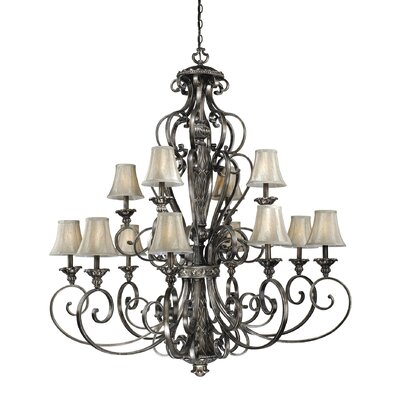 Propst 12-Light Shaded Chandelier