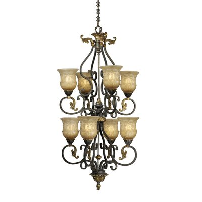 Caesar 8-Light Shaded Chandelier