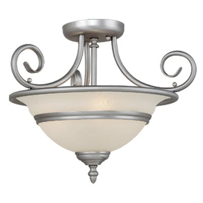 Da Vinci 3-Light Semi Flush Mount Finish: Brushed Nickel