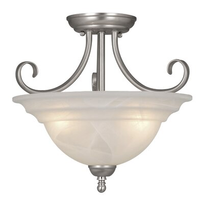 Tiemann 3-Light Semi Flush Mount Finish: Brushed Nickel