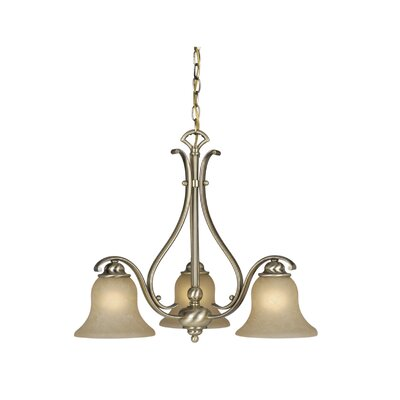Enfield 3-Light Shaded Chandelier Finish: Antique Brass