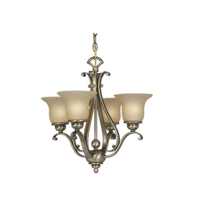 Enfield 4-Light Shaded Chandelier Finish: Antique Brass