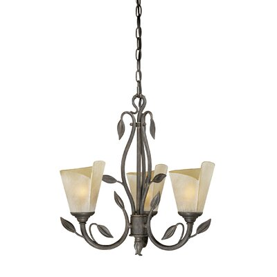 Brott 3-Light Shaded Chandelier