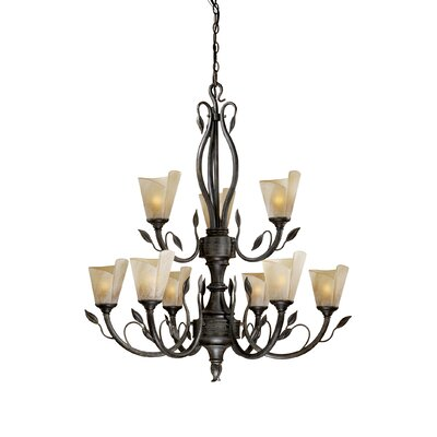 Capri 9-Light Shaded Chandelier