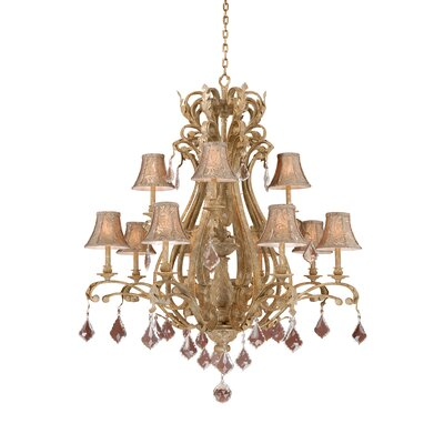 Broughton 12-Light Shaded Chandelier