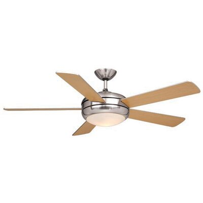 Rialta 5-Blade Ceiling Fan Finish: Satin Nickel