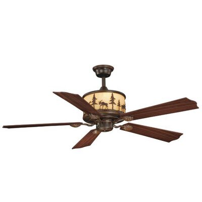 Josefina 5-Blade Ceiling Fan Finish: Burnished Bronze