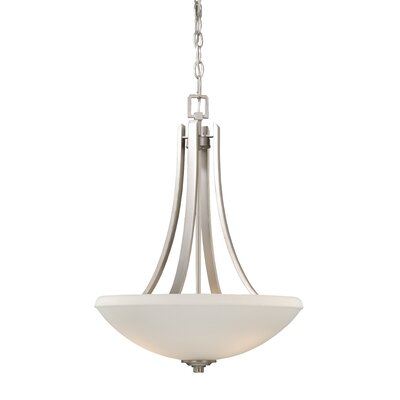 Helsinki 3-Light Inverted Pendant Finish: Brushed Nickel