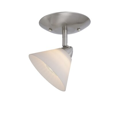 Moris Single Ceiling Light in White Glass