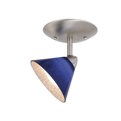 Moris Single Ceiling Light in Blue Glass