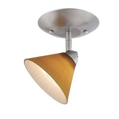 Moris Single Ceiling Light in Honey Ripple Glass