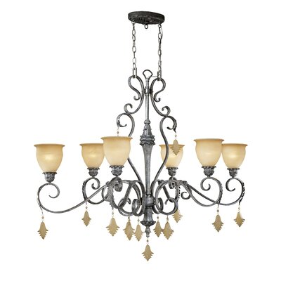 Montmarte 6-Light Shaded Chandelier