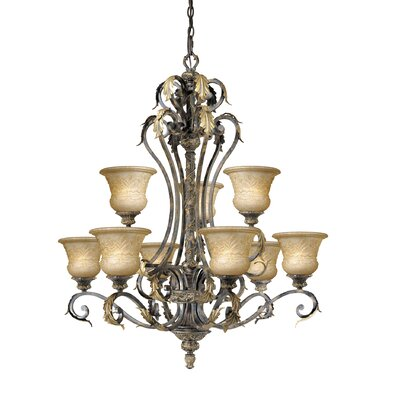 Browder 9-Light Shaded Chandelier