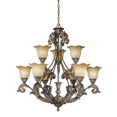 Monte Carlo 9-Light Shaded Chandelier