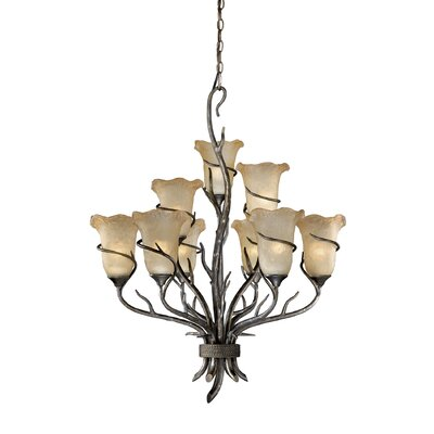 Polzin 9-Light Shaded Chandelier