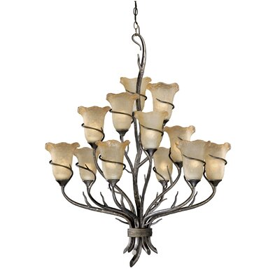 Polzin 12-Light Shaded Chandelier