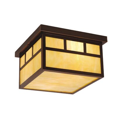 Joelle 2-Light Flush Mount Finish: Burnished Bronze