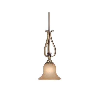 Monrovia 1-Light Mini Pendant Finish: Antique Brass