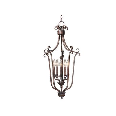 Mont Blanc 5-Light Foyer Pendant Finish: Aztec Bronze