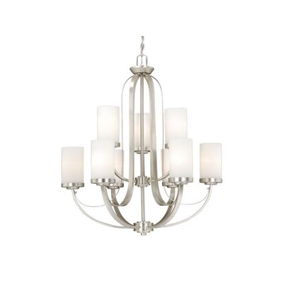 Oxford 9-Light Shaded Chandelier