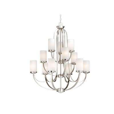 Oxford 12-Light Shaded Chandelier