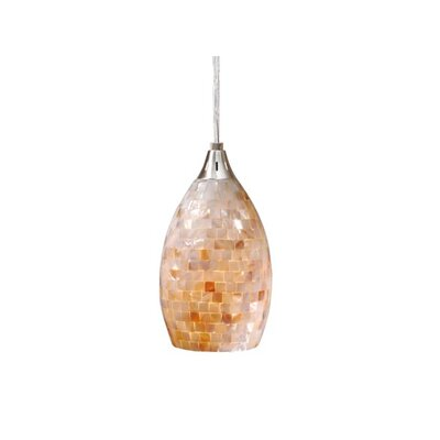 Moris 1-Light Mini Pendant Shade Color: Mosaic Shell Glass, Size: 4.5 W