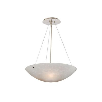 Moris 3-Light Inverted Pendant Shade Color: White Umbra Glass