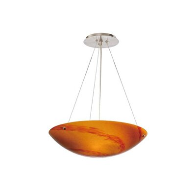 Moris 3-Light Inverted Pendant Shade Color: Lava Swirl Glass