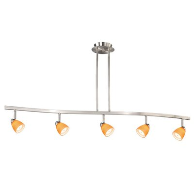 5-Light Kitchen Island Pendant Finish: Satin Nickel