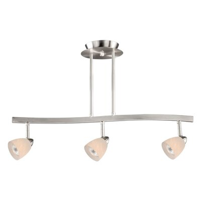 3-Light Spot Pendant Finish: Satin Nickel, Glass Shade: White Umbra Glass
